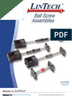 Lintech Ball Screws 2011 Catalog