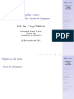 Aula de Álgebra Linear - 4 de Outubro