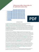 Características del proceso político democrático de Venezuela desde 1958 hasta nuestros días