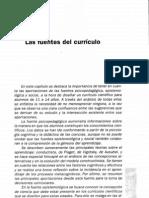 Las Fuentes Del Curriculo