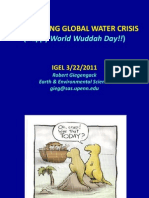 Robert Giegengack_The Looming Global Water Crisis