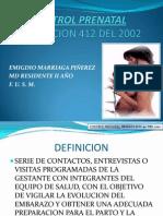 Art 412 - Control Prenatal Ppt