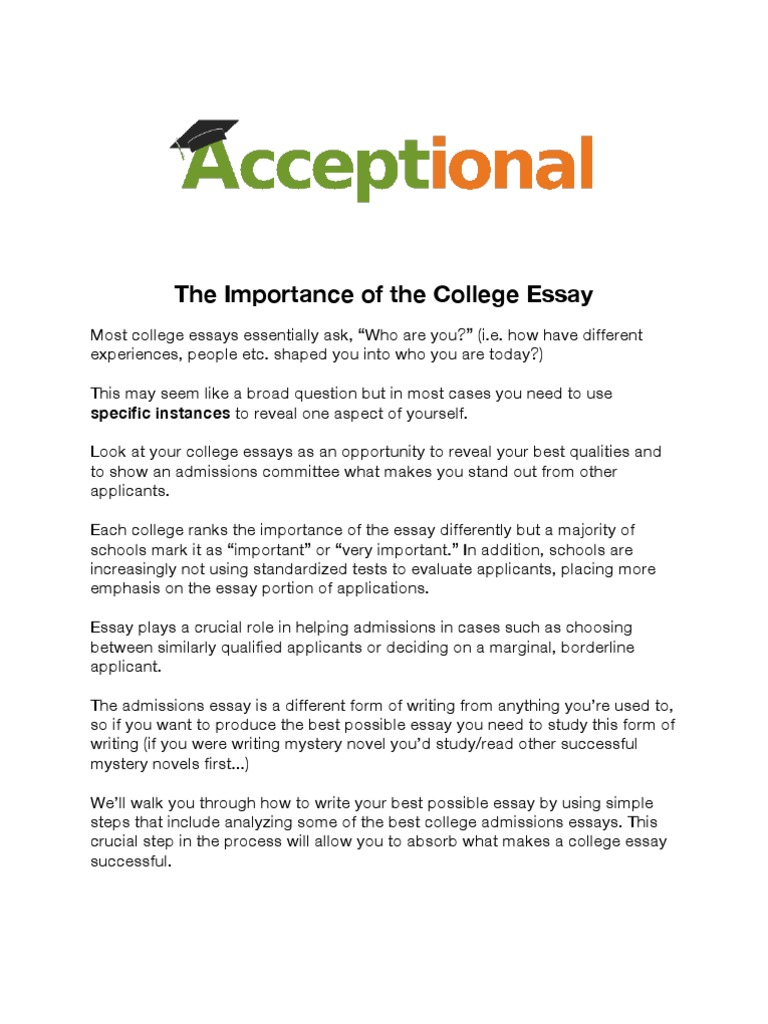 Sample Of Biography Essay  Title College Essay also An Essay On Health How To Get Accepted  Essays  University And College Admission Book Report Essay Example