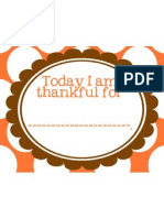 Today i Am Thankful For