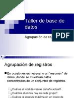Agrupación de registros y subconsultas
