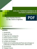Análisis termoeconómicos de sistemas energéticos