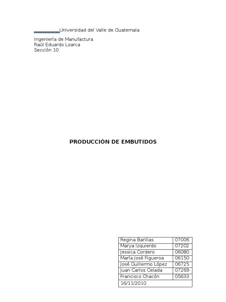 Proceso de produccin embutidos ccuart Gallery