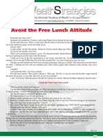 Avoid Free Lunch