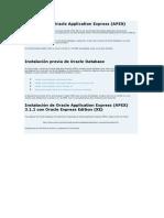 Instalacion de APEX 3.2