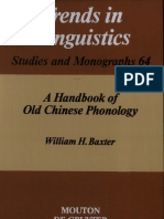 Baxter-Old Chinese Phonology