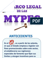 Marco Legal de Las Mypes