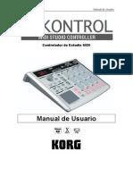 Spanish Manual Korg PadKONTROL