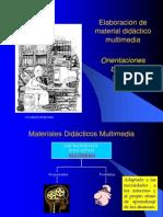 Elaboración de material didáctico multimedia