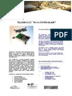 TelcoBriges TB-16 Spec Sheet