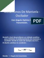 Mecanismos de Manivela - Oscilador