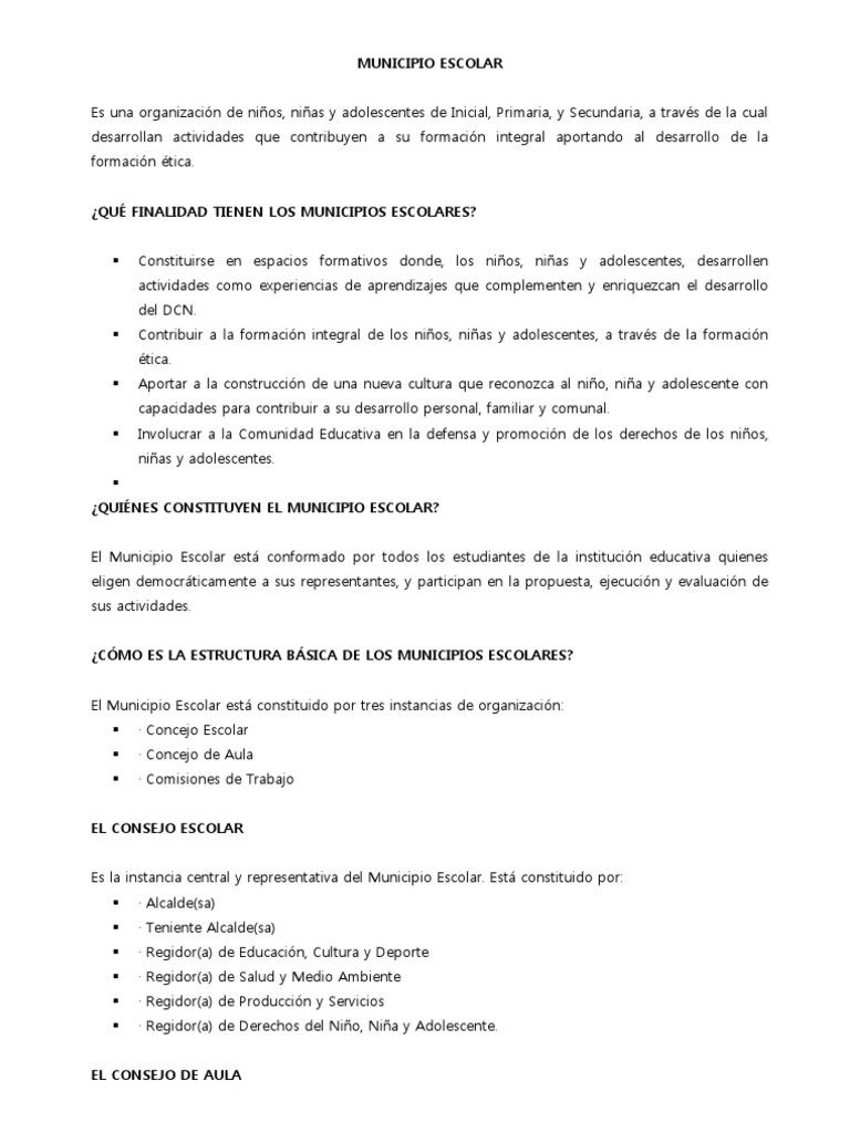Municipio Escolar Alcalde Educación Primaria