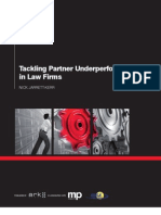 Tackling Partner Under Performance in Law Firms Summary