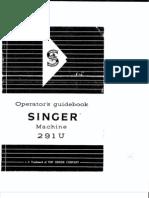 Singer Industrial 291u3