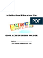 Individualized Education Plan Folder Cover