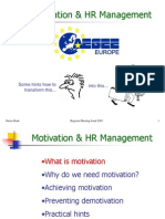 Motivation and Human Resources