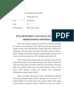 Pengaruh Dan Tantangan AFTA Terhadap Perekonomian Indonesia
