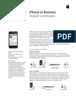 iPhone Digital Certificates