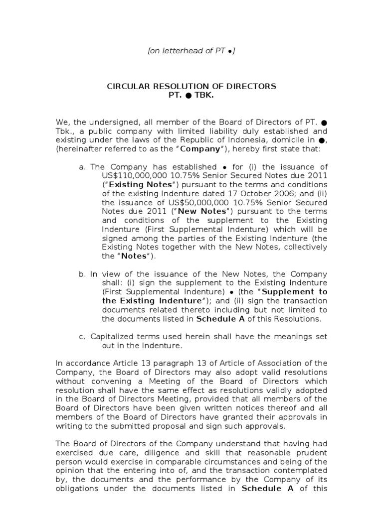 Draft circular resolution of board of directors for tack on draft circular resolution of board of directors for tack on notes08112011 board of directors business law spiritdancerdesigns Gallery