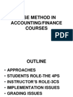 Case Method in Accounting