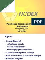 Warehousing Ncdx
