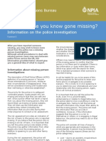 Factsheet 5 - Information on Police Investigation