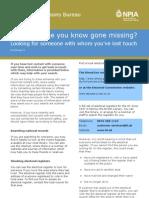 Factsheet 9 - Lost_Contact