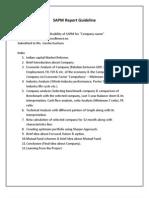 SAPM Report Guideline(2)
