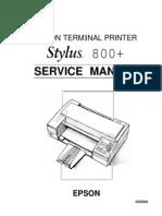 Stylus 800+ Service
