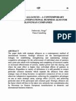 Strategic Alliances Theory