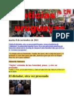 Noticias Uruguayas Martes 8 de Noviembre de 2011