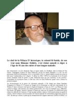 Mort  du Colonel Sadeq