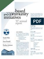 AK Faith Based Community Initiatives 2007