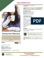 Snowy Arm Warmers