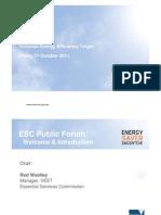 DMS192 VEET Stakeholder Forum 21 October 2011
