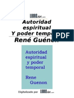 Autoridad Espirtual y Poder Temporal