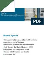 Service Advertisement Framework