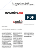 Epoké. Osservatorio intention polls - novembre 2011