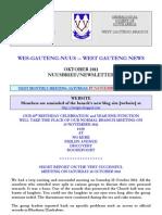 Wes-Gauteng-nuusbrief 2011-10