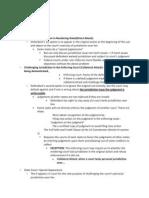 Civil Procedure Outline_Fall 2010