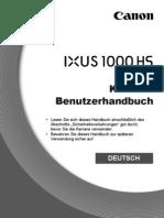 Canon IXUS 1000 HS Benutzerhandbuch