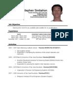 resume - Example Ng Resume