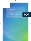 Share Point Deployment Guide and Checklists