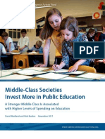 Middle-Class Societies Invest More in Public Education