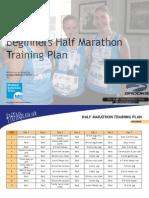 Half Marathon Beginners Plan