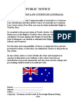 Public Notice  Using Common Law in Australian Courts
